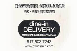 Catering and Dine-In Delivery